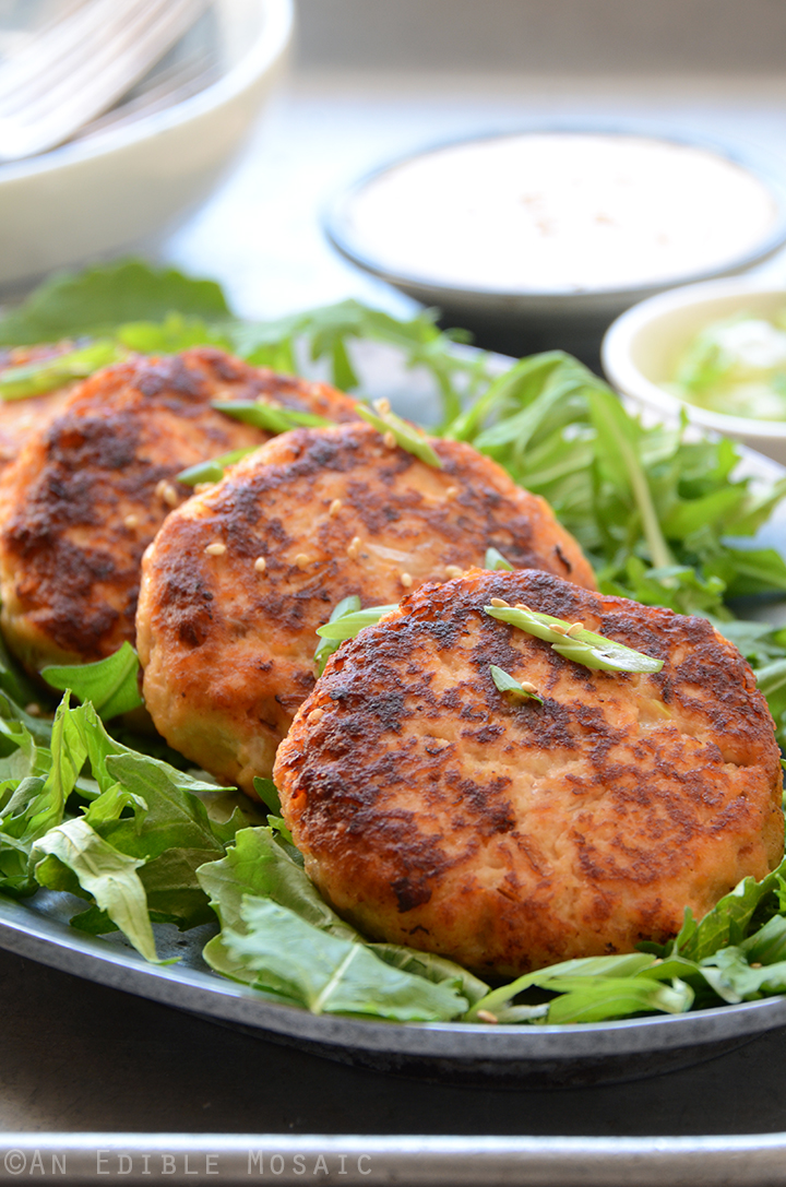 Hoisin Salmon Burgers with Sweet and Spicy Ginger Mayo 2