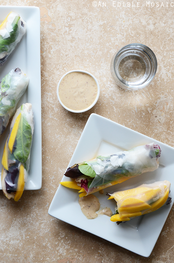 Mango Coconut Chicken Rolls with Spring Mix and Sesame-Ginger Sauce 3