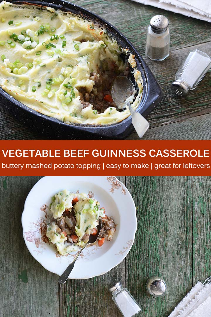 Vegetable Beef Guinness Casserole Recipe Pin