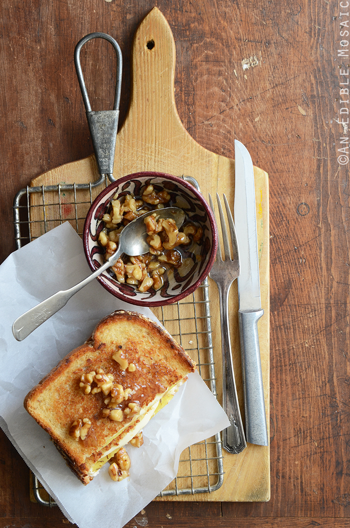 Caramelized Pineapple Grilled Cheese with Honeyed Walnuts 3
