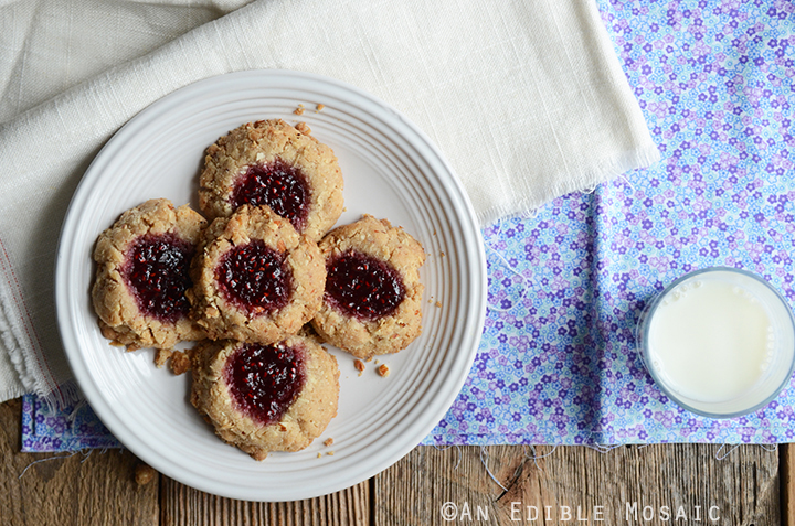 Coconut, Almond, and Raspberry Jam Thumbprint Cookies 3
