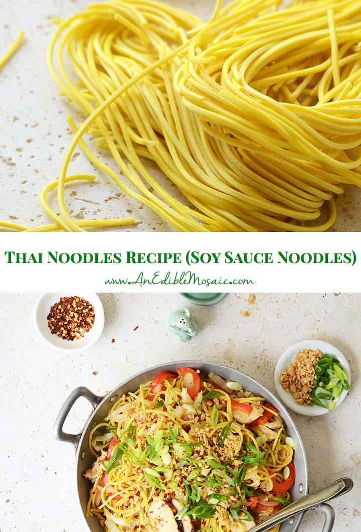 Thai Noodles Recipe (Soy Sauce Noodles) Pin