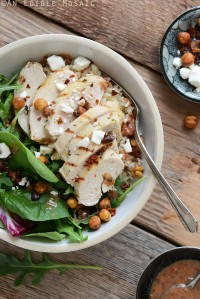 Herbed Chicken and Brown Rice Sun-Washed Mediterranean Salad Bowls 1
