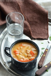 Quick Chicken Paprika Soup 1