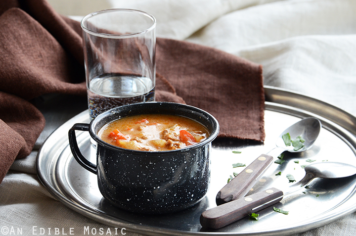 Quick Chicken Paprika Soup 3