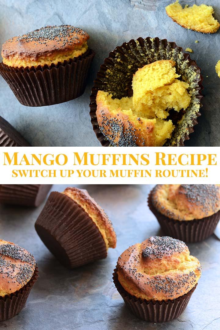 Mango Muffins Recipe Pinnable Image