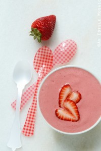 Strawberry and Cream Smoothie Bowl