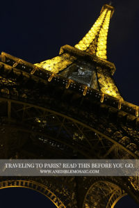 Photo of Eiffel Tower at Night for Article on Traveling to Paris