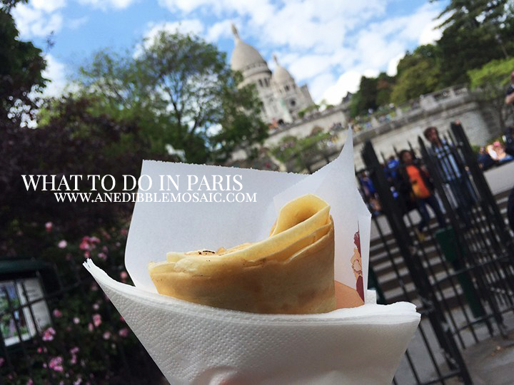 Photo of Crepe with Sacre Coeur in the Background and What to do in Paris
