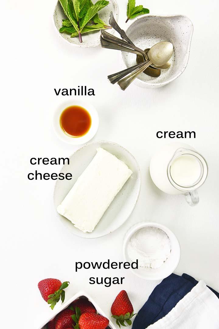 cheesecake parfaits ingredients