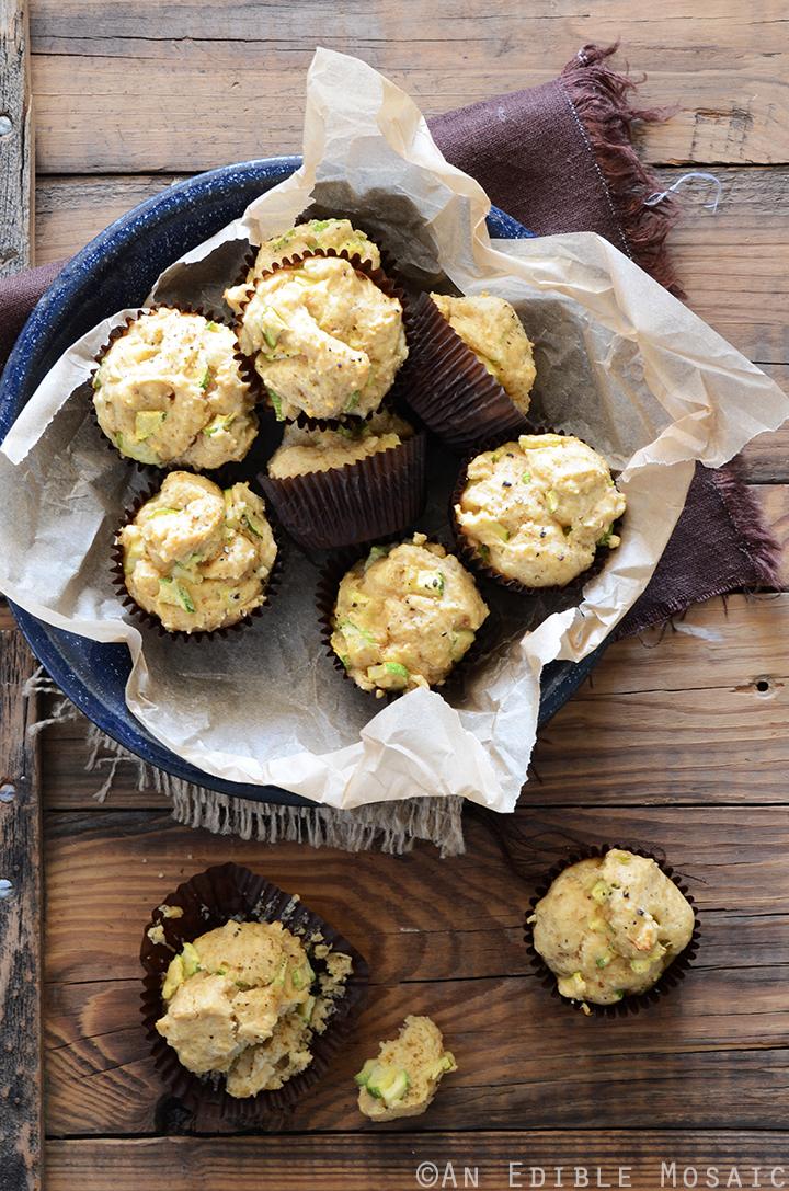 Savory Spiced Sour Cream Zucchini Muffins Recipe