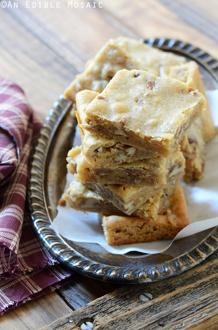 Butterbeer Brown Butter Blondies with Toasted Pecans 1