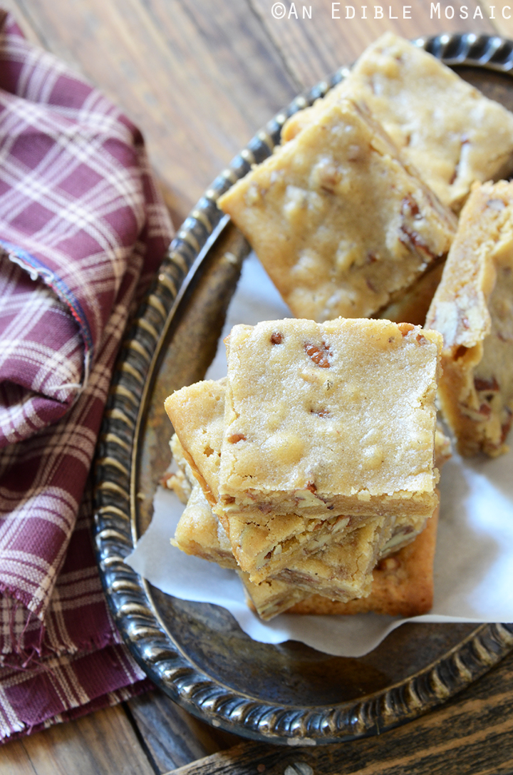 Butterbeer Brown Butter Blondies with Toasted Pecans 4