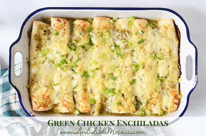 Green Chicken Enchiladas with Description