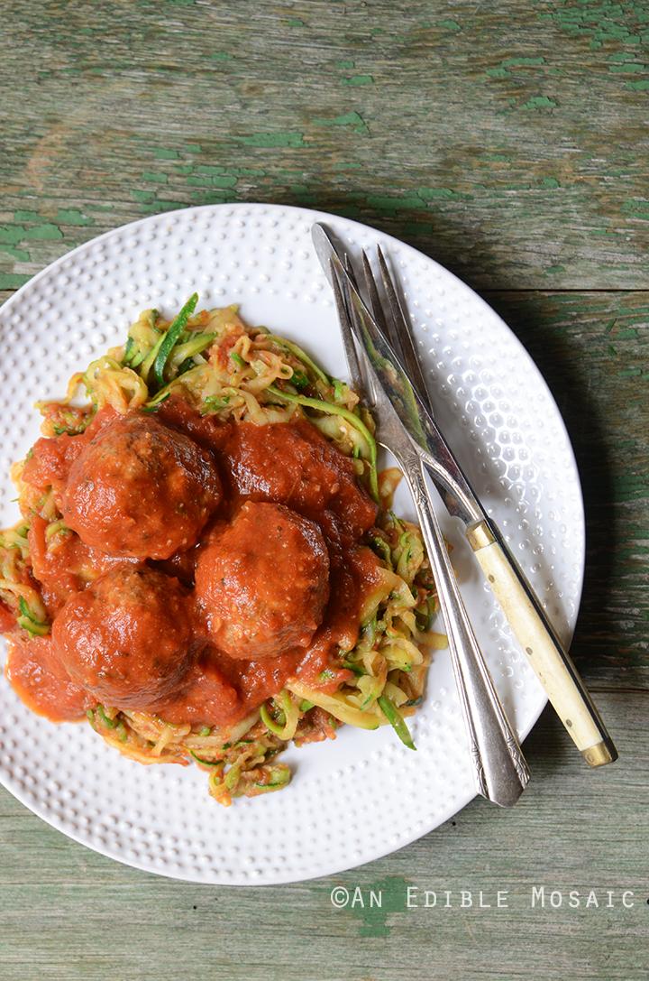 Italian-Style Beef Meatballs Simmered in Tomato Sauce {Gluten Free} 2