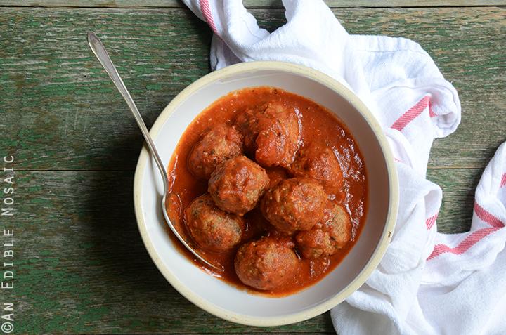 Italian-Style Beef Meatballs Simmered in Tomato Sauce {Gluten Free} 3
