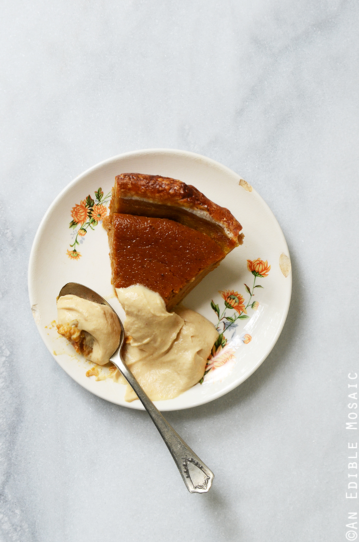 Maple Peanut Butter Pumpkin Pie with Maple Peanut Butter Whipped Cream 3