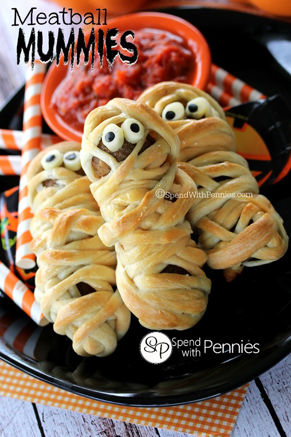Meatball Mummies from Spend with Pennies