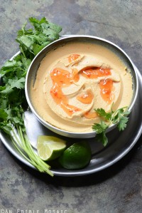 Peanutty Thai Curry Hummus
