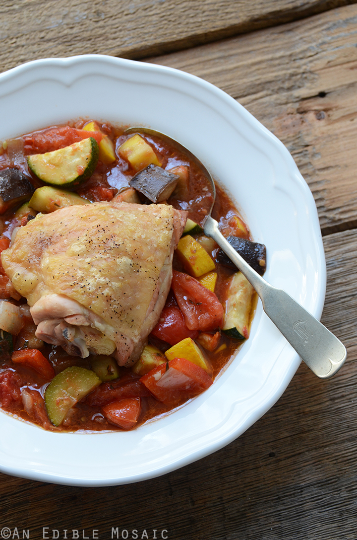 Roast Chicken Ratatouille