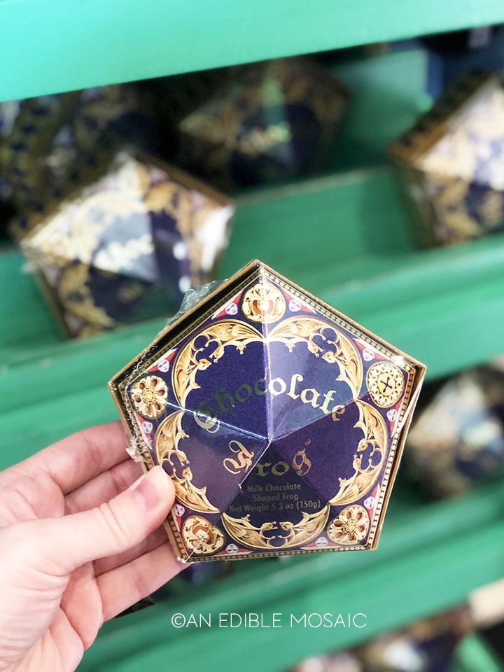 chocolate frog at honeyduke's in harry potter world