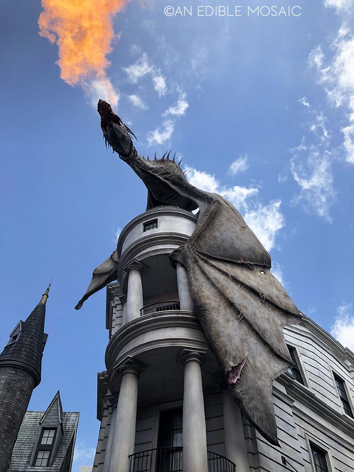 fire breathing dragon at universal studios