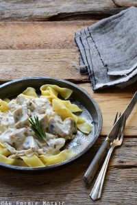 15-Minute Turkey Stroganoff with Fresh Rosemary