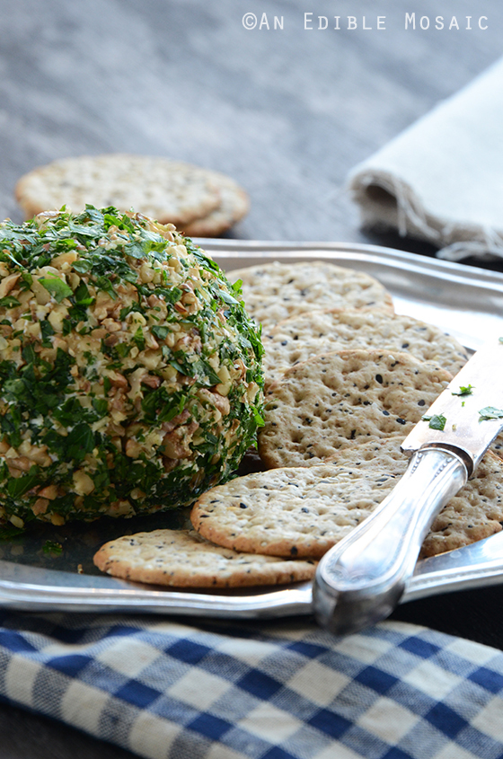 Date, Walnut, and Blue Cheese Ball