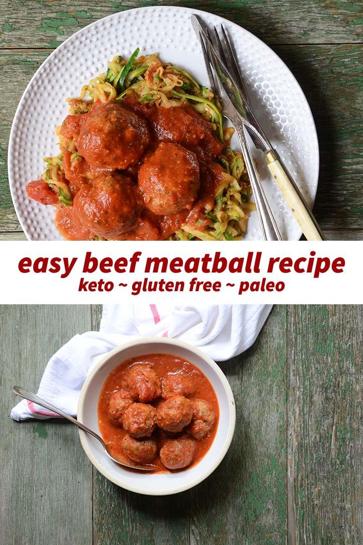 Easy Beef Meatball Recipe Pin