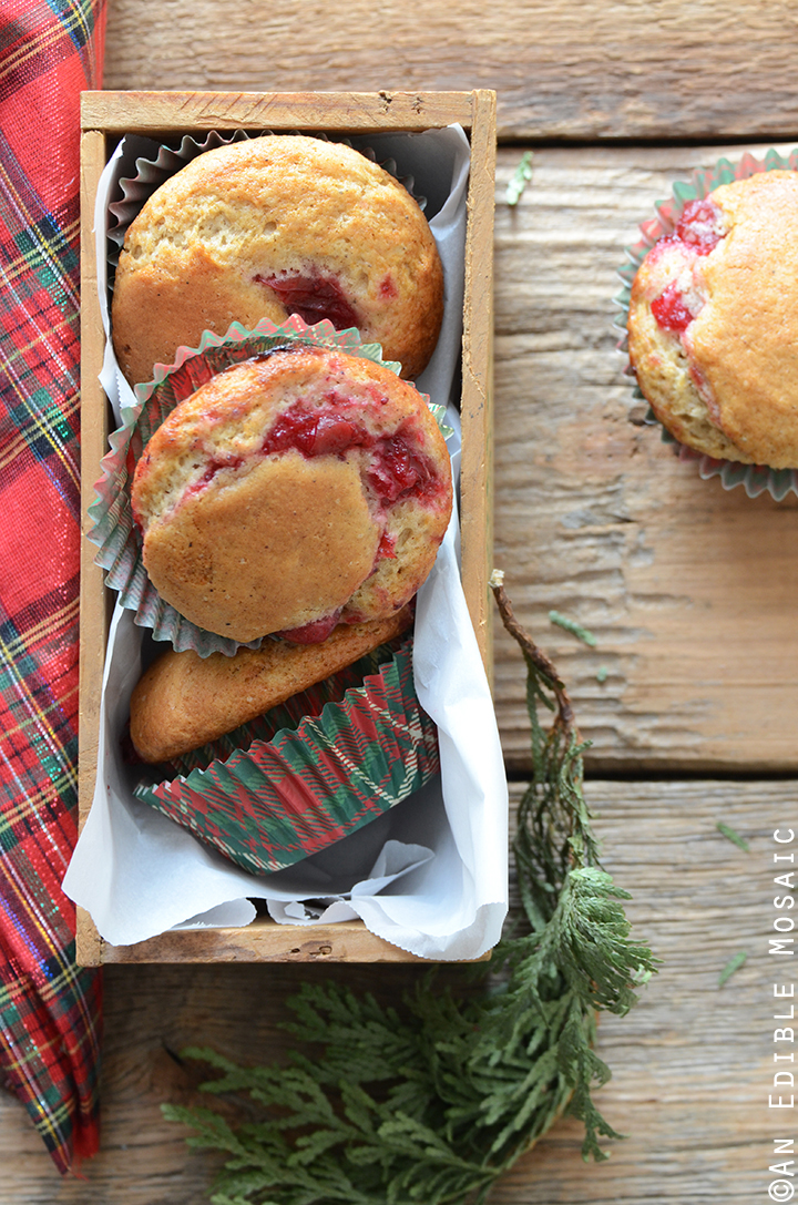 Eggnog Muffins with Cranberry Filling 1