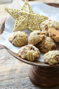 Maple Pecan Potato Chip Shortbread Cookies