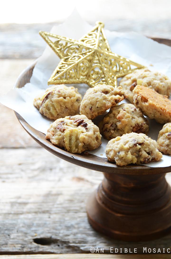 Maple Pecan Potato Chip Shortbread Cookies 4