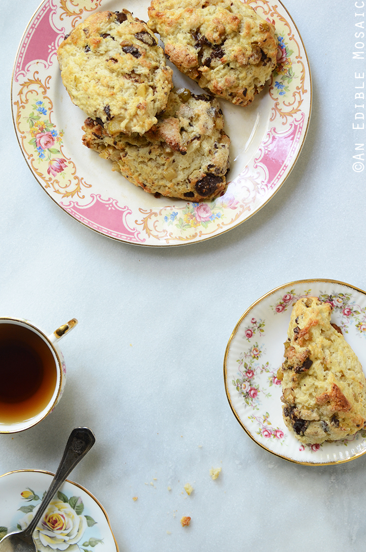 Vanilla Bean Caramelized Pear Scones with Dark Chocolate Chunks 1