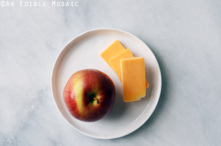 Apple with Cheddar