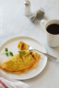 Cheesy Western Omelet {Lactose-Free; Gluten-Free}