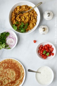 Easy Turkey or Chicken Masala Wraps
