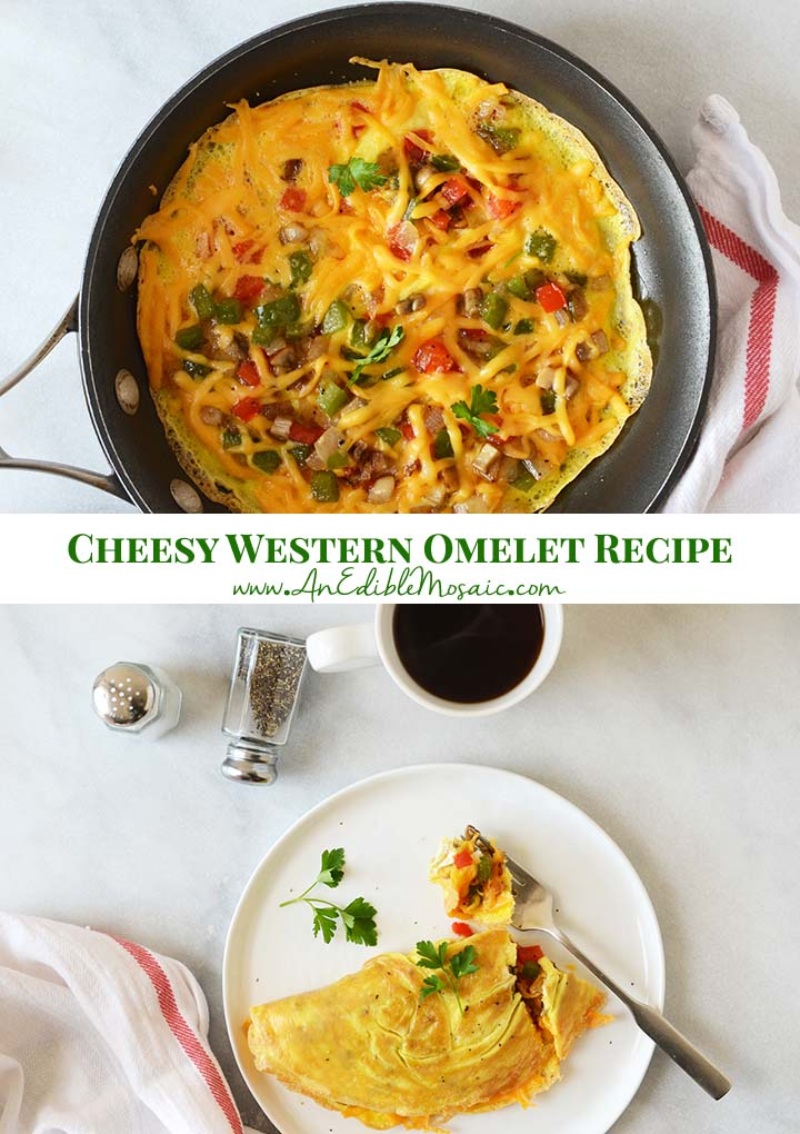 Cheesy Western Omelet Recipe Pin