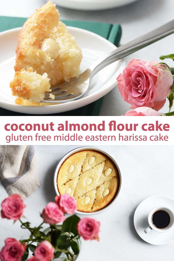 Coconut Almond Flour Cake Recipe Pin