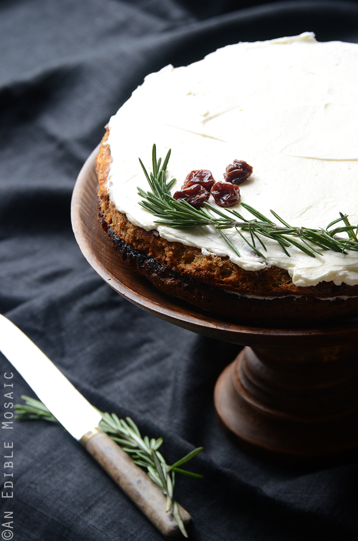 Gluten-Free Cherry Almond Cake with Rosemary Vanilla Bean Buttercream 1