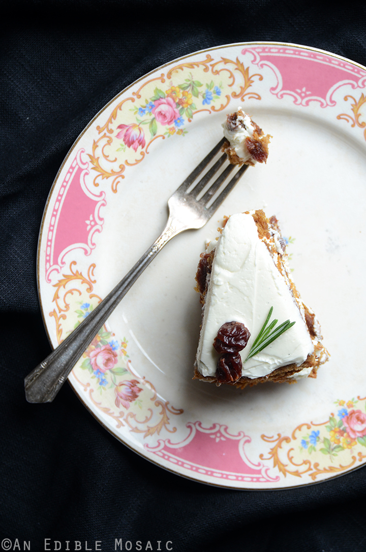 Gluten-Free Cherry Almond Cake with Rosemary Vanilla Bean Buttercream 3