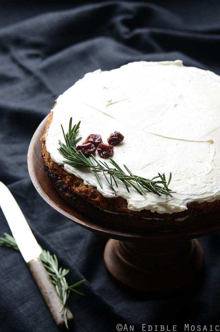 Gluten-Free Cherry Almond Cake with Rosemary Vanilla Bean Buttercream 4
