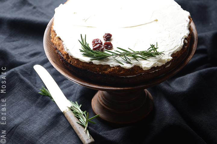Gluten-Free Cherry Almond Cake with Rosemary Vanilla Bean Buttercream 6