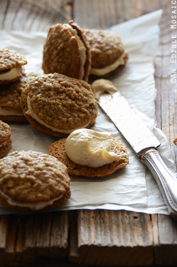 Oatmeal Cream Pies with Rum-Raisin Brown Sugar Buttercream Frosting 2