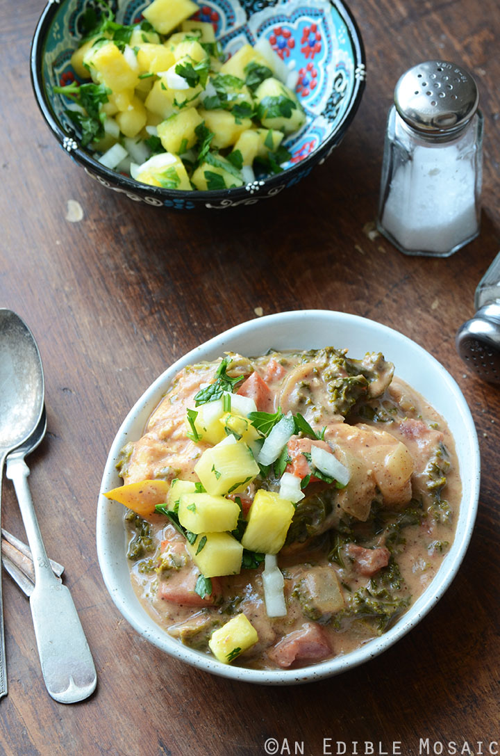 Almond Butter Chicken Stew with Pineapple-Mint Relish {Whole30} 2