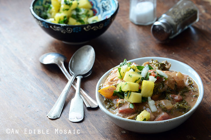 Almond Butter Chicken Stew with Pineapple-Mint Relish {Whole30} 3
