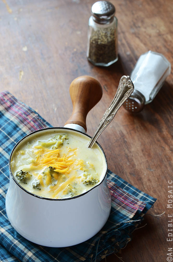 Broccoli Cheddar Soup {Gluten-Free; Lactose-Free} 1
