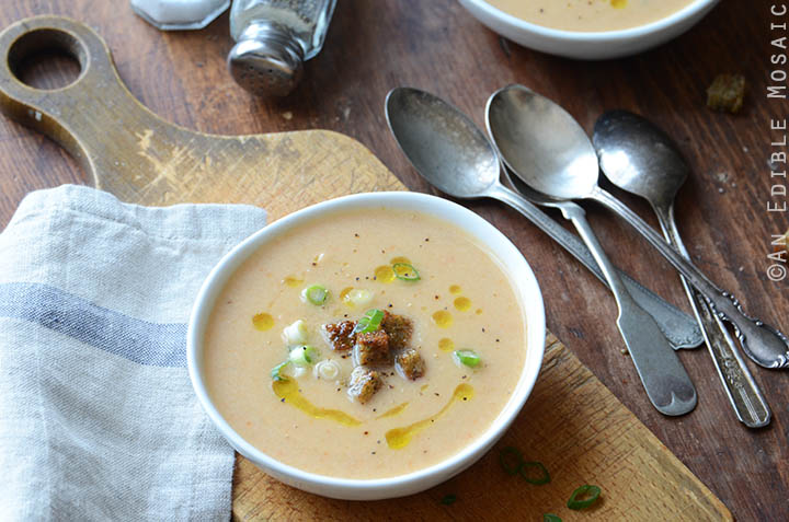 Beer and Cheese Cauliflower Soup 4