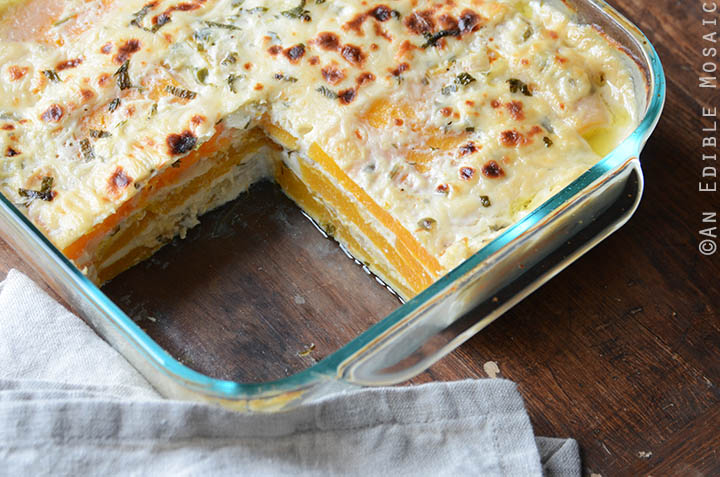 Cheesy Butternut Squash Lasagna {Gluten-Free; Lactose-Free} 5
