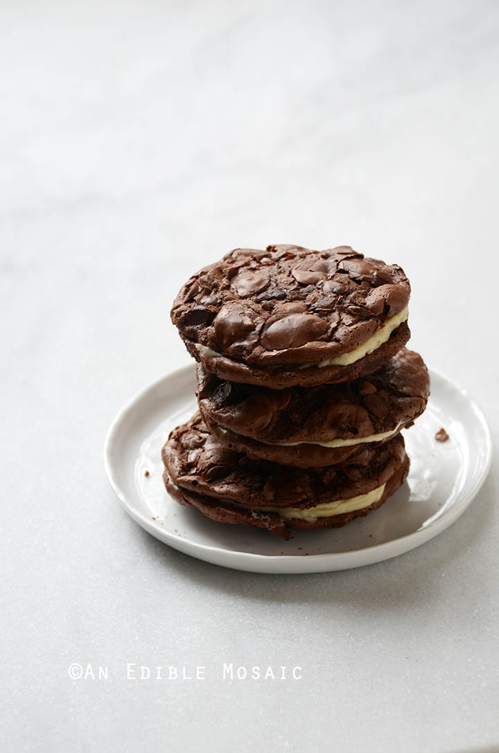 Double Chocolate Almond Chewy Cookie Sandwiches {Gluten-Free} 3