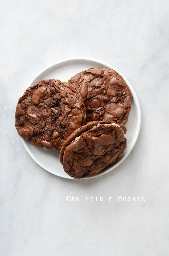 Double Chocolate Almond Chewy Cookie Sandwiches {Gluten-Free} 4